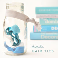 simple hair ties