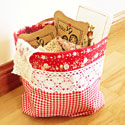 fabric storage bucket