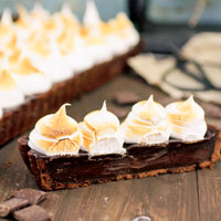 triple chocolate meringue tart recipe