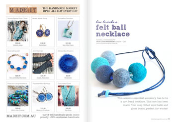 issue 12 create a felt ball necklace