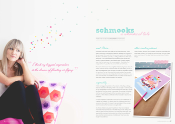 tickle the imagination magazine meet Claire from Schmooks
